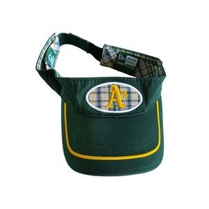 oakland athletics new era plaid visor hat